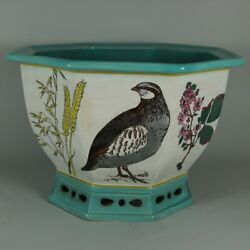 Minton Majolica And039naturalistand039 Jardiniere By W.s Coleman