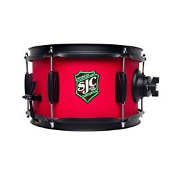 Sjc Drums Ss610gtrd 6andrdquox10andrdquo Side Snare - Red Grip Tape Finish