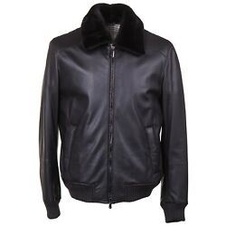 Cesare Attolini Deerskin Leather Bomber Jacket With Fur Collar Xl Eu54 Nwt 6950