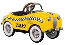 Pedal Car Taxi Checker Cab Too Small To Ride On Mini Metal Collector Model