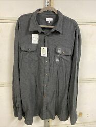 2-sonoma Men's Size 3xlt Dark Gray Supersoft Flannel Long Sleeve Shirts