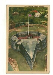 C1940 Pc Aerial View Of Fort Fincastle, Nassau, Bahamas Mailed In 1962 W/stamp