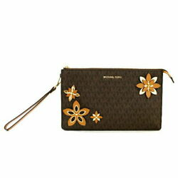 Michael Kors Clutch Bag Women #x27;S Floral Print Leather $323.53