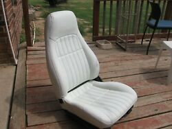 1997 Chevy Camaro Original White Leather Seat Power Driver Seat Excellent Co