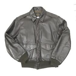 Vintage Type A-2 Avirex U.s.a Leather Jacket Size 40 Army Air Forces Usaaf Brown