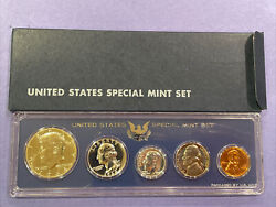 1964 Us Mint Coin Set In Genuine Us Special Mint Set Sms Holder Silver Kennedy