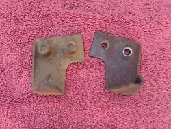 1937 1938 1939 1940 Chevy Pickup Truck Front Hood Latch Catch Pair Grille Shell