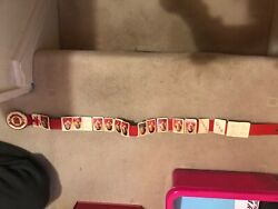 Manchester United 70s Original Belt Including12 Players And Badge, Never Worn