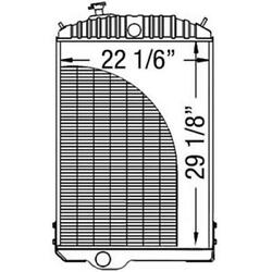 New Ar68872 Replacement Radiator Fits Jd 4630 Tractor