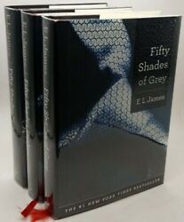 Andraquo Rare Fifty Shades Of Grey Trilogy - E.l. James Hardcover 1st/1st Edition