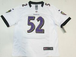 New Ray Lewis 52 Baltimore Ravens Menand039s Game Onfield Jersey Away White