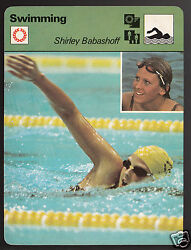 Shirley Babashoff Swimming Usa Olympic Gold Medal 1978 Sportscaster Card 40-13
