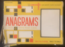 Vintage 1969 Anagrams Plus Six Other Word Games By Transogram Complete