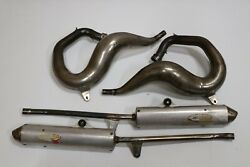 Yamaha Banshee Fmf Fatty Chrome Exhaust Pipes And Silencers 1987-2006 Sparky C-11