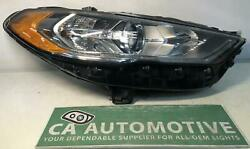 2017 2018 2019 2020 Ford Fusion Headlamp Right Rh Halogen With Led Oem