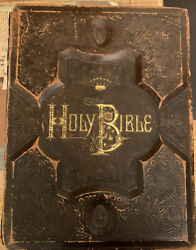 Magnificent Large Antique Holy Bible - Holmanand039s Edition - 1882