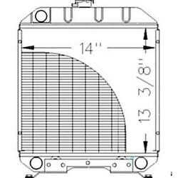 New Sba310100610 Radiator Fits Ford Fits New Holland Compact Tractor 1120 1215 1