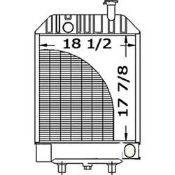New D2nn8005d Tractor Radiator Fits Ford 650 6500 With Oil Cooler