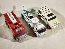 Hess Toy 2004 Suv Motorcycles Truck 2005 Fire Engine 2006 Helicopter
