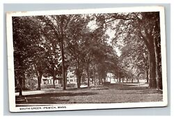 Vintage 1920and039s Photo Postcard Ipswich Massachusetts South Green Rare Stamp