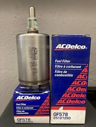 Lot Of 2 Ac Delco Gf578 Fuel Filter For Chevy Buick Pontiac Gmc Gas Cars Trucks