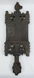 Early Antique Folk Art Cutting Board Chip Carved 18th C. Or Earlier