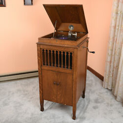 Antique Silvertone Wind-up Record Player C1916 With Records Excellent Condition