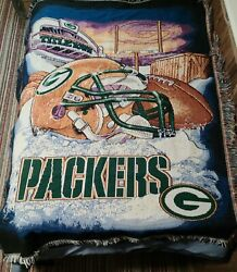 Green Bay Packers Nfl Titletown Throw 58 X 48 The Northwest Company Football