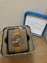 Fossil Women#x27;s ES4405 Rose Gold Tone Stainless Steel Watch $55.07