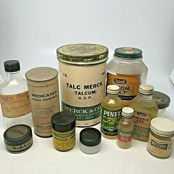 Vintage Advertising Jars And Bottles Apothecary Drug Store Lot Of 12 Items