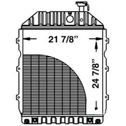 New D5nn8005p Radiator Fits Ford Tractor 8700 W/ Oil Cooler