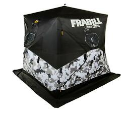 New Frabill Shelter Hub Bro With 600d Polyester For Up To 3 Anglers Arctic Camo