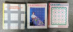 Lot 53 Vintage 1970s 1980s Quilter's Newsletter Magazine Patterns Sewing