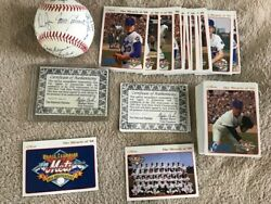 1969 Ny Mets 25th Anniversary D Autographed Ball And Card Set - Ryan Seaver