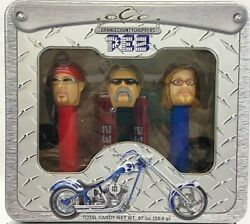 Pez Orange County Choppers 2006 Collectible Dispensers Set Of 3 New In Tin