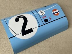 Wowcurved 9i7 Race Car Racing Gulf Rodriguez Door Fender Style Sign