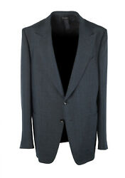 New Tom Ford Shelton Blue Checked Sport Coat Size 56 It / 46r U.s.