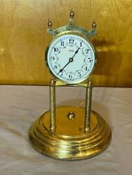 Vintage Kundo Germany Brass Table Clock For Parts Or Repair Fast Shipping