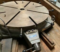 31andrdquo Diameter Rotary Table Made In Germany Hofmann It-800