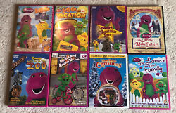 Barney And Friends Dvd Lot Of 8 Kids Educational Tv Shows / Movie Purple Dinosaur