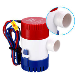 1100gph 12v Electric Marine Submersible Bilge Sump Water Pump Fit Boat Yacht
