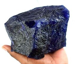 Blue Sapphire 5777 Ct/116 Mm Natural Gemstone Rough African Agi Certified X1118
