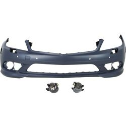 Set Of 3 Bumper Covers For Mercedes C Class 2048857825 2518200756 2518200856