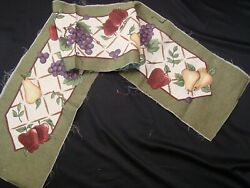 NEW TAPESTRY Fabric Fruit Table Runner CRAFT Panel Piece 13.5quot; x 72quot;