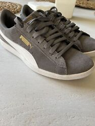 Womenand039s Vikky Soft Foam Comfort Casual Suede Sneakers Grey Size 7.5