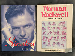 2 Books Sinatra By Tim Frew And Norman Rockwell Classic Treasury Robin Sommer
