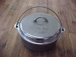 9 Chrome Griswold Tite-top Dutch Oven 1279 Self-basting Cast Iron Lid 1289