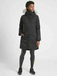 Athleta Outbound Parka S Small Black Hooded Winter Coat