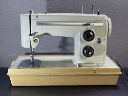 Sears Kenmore Model 158-14001 Portable Vintage Sewing Machine With Hard Case
