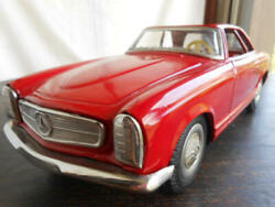 Asahi Toy Atc Mercedes Benz 230 Sl Tin Red 30cm Mini Car Vintage Rare From Japan
